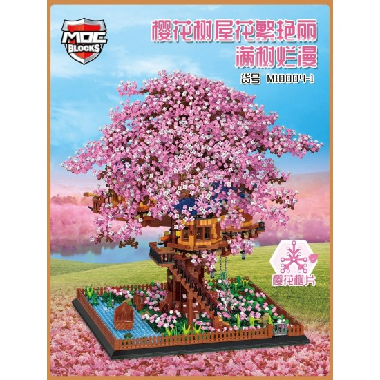 Конструктор MOC BLOCKS M10004 дерево, сакура, сад