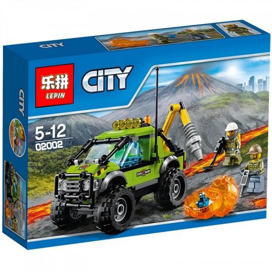 Конструктор Lepin 02002 аналог LEGO 60121 Грузовик исследователей вулканов CiTiES