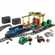 Конструктор KING 82008 Cities Грузовой моторизированный поезд (аналог лего 60052, бывший Lepin 02008)