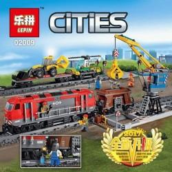 Конструктор Lepin 02009 Электромеханический конструктор Мощный грузовой поезд