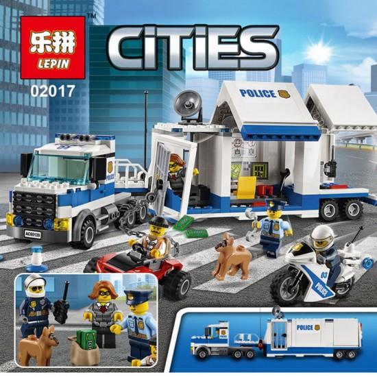 Конструктор 82013 KING&QUEEN Мобильный командный центр (бывший Lepin 02017), аналог Lego 60139