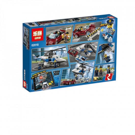 Конструктор Lepin 02018 Стремительная Погоня, аналог Lego 60138 City