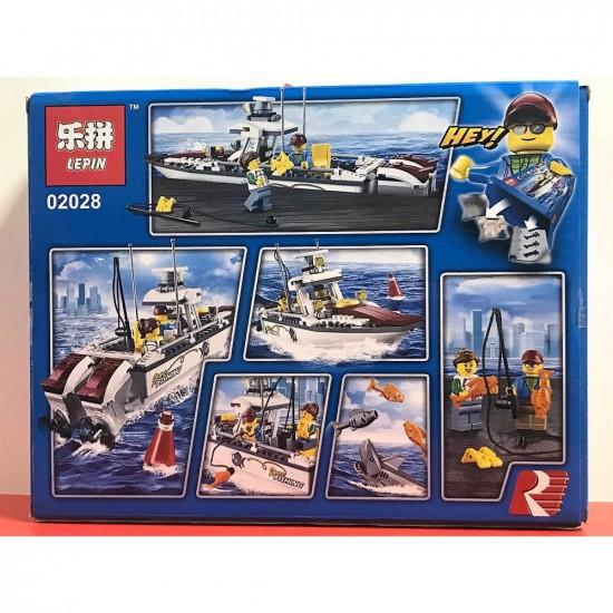 Конструктор Lepin 02028 Lepin Рыболовный катер копия Lego 60147