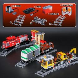 Конструктор Lepin 02039 Красный грузовой поезд, копия Lego 3677 City