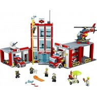 Конструктор Queen 82038 Пожарная часть, бывший Lepin 02052, копия Lego 60110 City