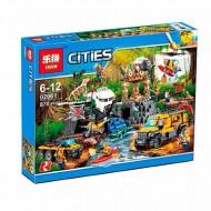 Конструктор Lepin 02061 База исследователей джунглей, копия Lego 60161 City