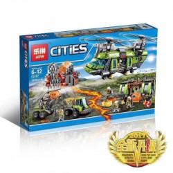 Конструктор Lepin 02087 Тяжёлый транспортный вертолёт «Вулкан», копия Lego 60125 City