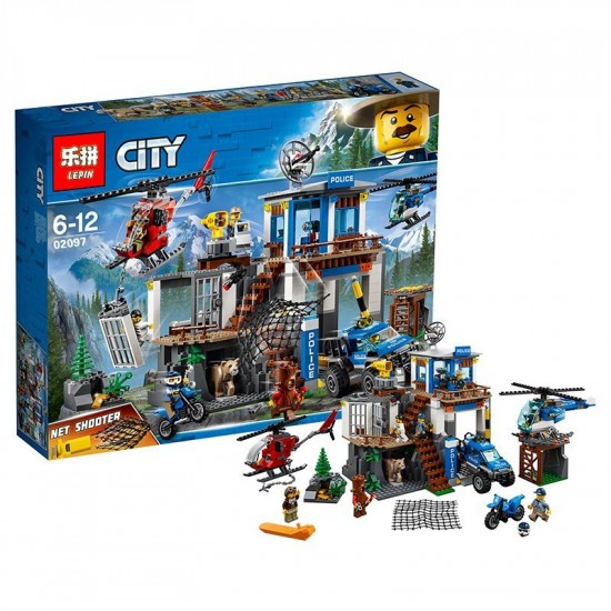 Конструктор Lepin 02097 Полицейский участок в горах, аналог Lego City 60174