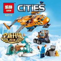 Конструктор Lepin 02112 Арктическая экспедиция: Грузовой самолёт, аналог Lego City 60196