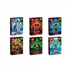 Конструктор Lepin 03048 Набор 6 героев копия Lego Ninjago