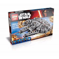 Конструктор Lepin 05007 Сокол Тысячелетия, аналог Lego 75105 Star Wars
