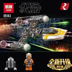 Конструктор Lepin 05143  Звёздный истребитель Y-wing, копия Lego 75181