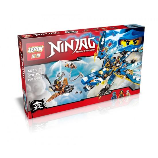 Конструктор Lepin 06027 Ninja Дракон Джея (аналог LEGO 70602 NinjaGo)