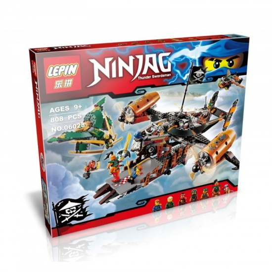 Конструктор Lepin 06028 Цитадель несчастий аналог Lego Ninjago 70605