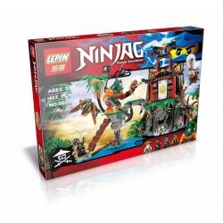 Конструктор Lepin 06030 Остров Тигриных вдов NINJAGO, копия Lego 70604 Tiger Widow Island