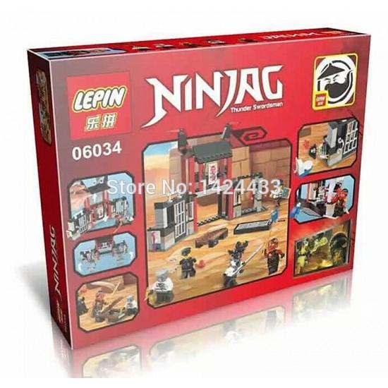 Конструктор Lepin 06034 Побег из тюрьмы Криптариум. Серия Ninjago, копия Lego 70590