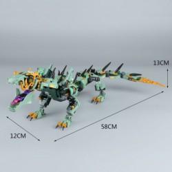 Конструктор Lepin 06051 Механический Дракон Зелёного Ниндзя аналог Лего 70612 Ninjago