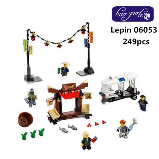 Конструктор Lepin 06053 Ограбление киоска в Ниндзяго Сити - аналог Lego 70607 Ninjago