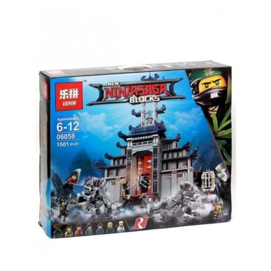 Конструктор Lepin 06058 Храм Последнего великого оружия - аналог Lego 70617 Ninjago