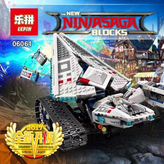 Конструктор Lepin 06061 Ледяной Танк New Ninjiasaga Blocks, аналог Lego 70616 Ninjago (Ниндзяго)