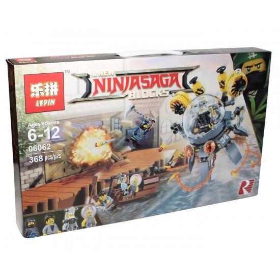 Конструктор Lepin 06062 Летающая подводная лодка копия Lego 70610 Ninjago