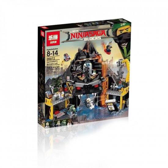 Конструктор Lepin 06072 Логово Гармадона в жерле Вулкана копия Lego 70631 Ninjago