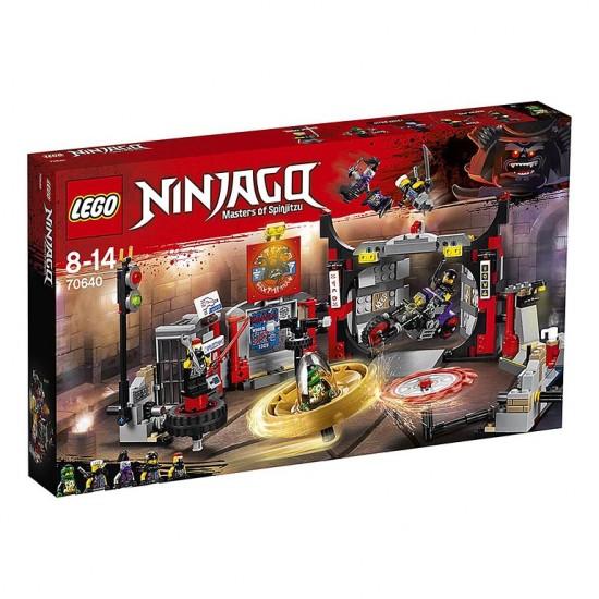 Конструктор Lepin 06075 Штаб-квартира Сынов Гармадона копия Lego 70640 Ninjago
