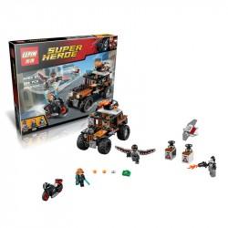 Конструктор Lepin 07031 Опасное ограбление Кроссбоунса копия Lego 76050 Супер Герои