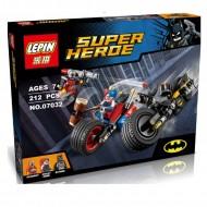 Конструктор Lepin 07032 Погоня на мотоцикле в Готэм-сити (аналог Lego Super Heroes)
