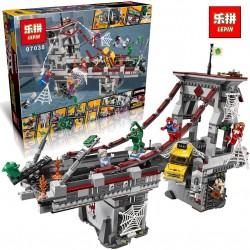 Конструктор Lepin 07038 Дуэль воинов с сетями на мосту
