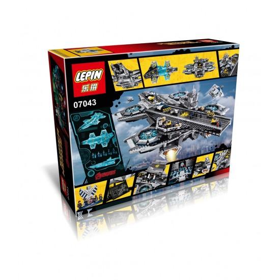 Конструктор Lion King 180081 Super Heroes, Геликарриер — воздушный перевозчик организации Щ.И.Т., бывший Lepin 07043 / Аналог Lego 76042
