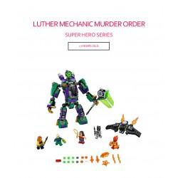 Конструктор Lepin 07092 Сражение с роботом Лекса Лютора SUPER HEROES MARVEL, копия LEGO 76097