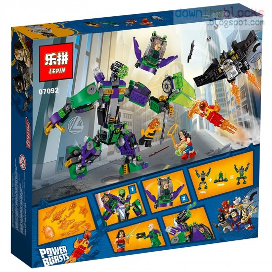 Конструктор Lepin 07092 Сражение с роботом Лекса Лютора SUPER HEROES MARVEL копия LEGO 76097
