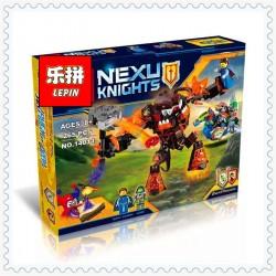 Конструктор Lepin 14011 Инфернокс захватывает Королеву NEXU KNIGHTS, копия Lego 70325 Infernoxcapturesthe Queen Нексо рыцари