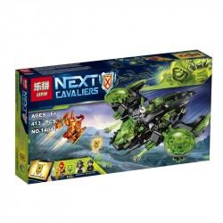 Конструктор Lepin 14041 Неистовый бомбардировщик копия Lego 72003 Nexo Knights