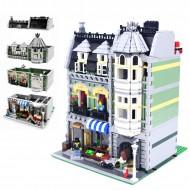 Конструктор KING QUEEN 84008, Зеленая бакалейная лавка, бывший Lepin 15008 | аналог Lego 10185
