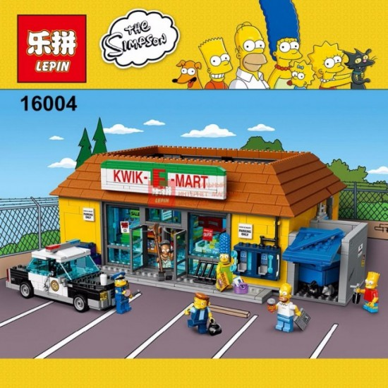 Конструктор Lepin 16004 Магазин На скорую руку The Simpson
