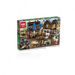 Конструктор Lepin 16011 Средневековый Рынок, копия Lego 10193 Lego Castle Fortress