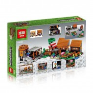 Конструктор Lepin 18010 Деревня (The Village) Minecraft Майнкрафт / аналог Lego 21128 Minecraft