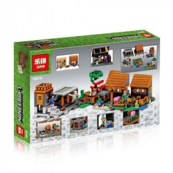 Конструктор Lepin 18010 Деревня (The Village) Minecraft Майнкрафт / аналог Lego 21128 Minecraft
