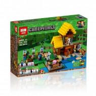 Конструктор Lepin  Cubeworld 18039 Фермерский коттедж