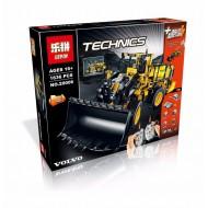 Конструктор Lepin 20006 Technic  Автопогрузчик VOLVO L350F с электромотором на радиоуправлении, копия Lego 42030 Volvo L350F Wheel Loader Technic