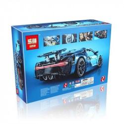 Конструктор Lepin 20086 Bugatti Chiron голубой, копия Lego 42083 Technic