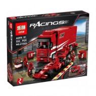 Конструктор Lepin 21022 Феррари F1 и грузовик Феррари, копия Lego 8185 Creator