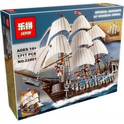 Конструктор Lepin 22001 Флагманский трехмачтовый корабль
