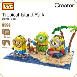 Конструктор LOZ 9396 Миньоны на пляже