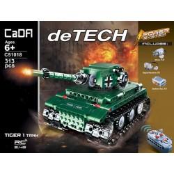 Конструктор Double E Cada Technics, Танк Tiger 1, 313 деталей, пульт управления - C51018W