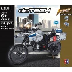 Конструктор Double E Cada deTech *Мотоцикл Police* 539 деталей - C51023W