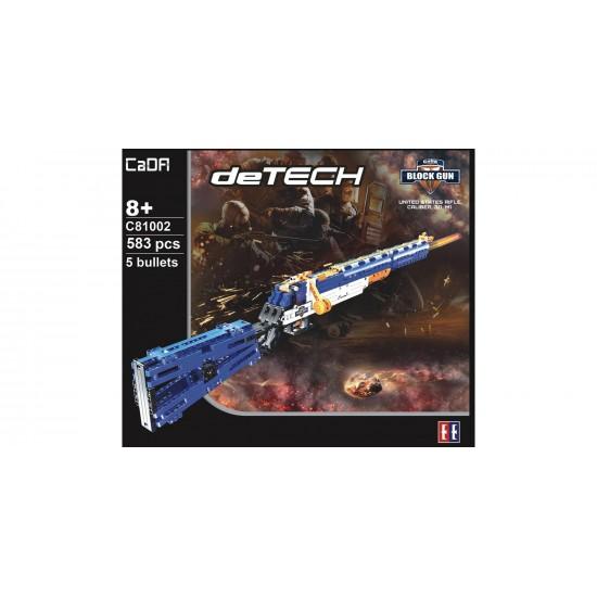 Конструктор Cada deTech C81002W винтовка М1, 583 детали, стреляет мягкими пульками
