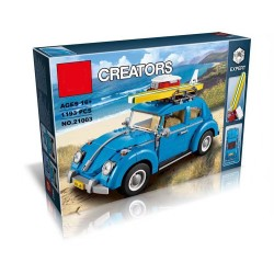 Конструктор King Creators 21003 Фольксваген Жук (бывший Lepin 21003), аналог Lego 10252